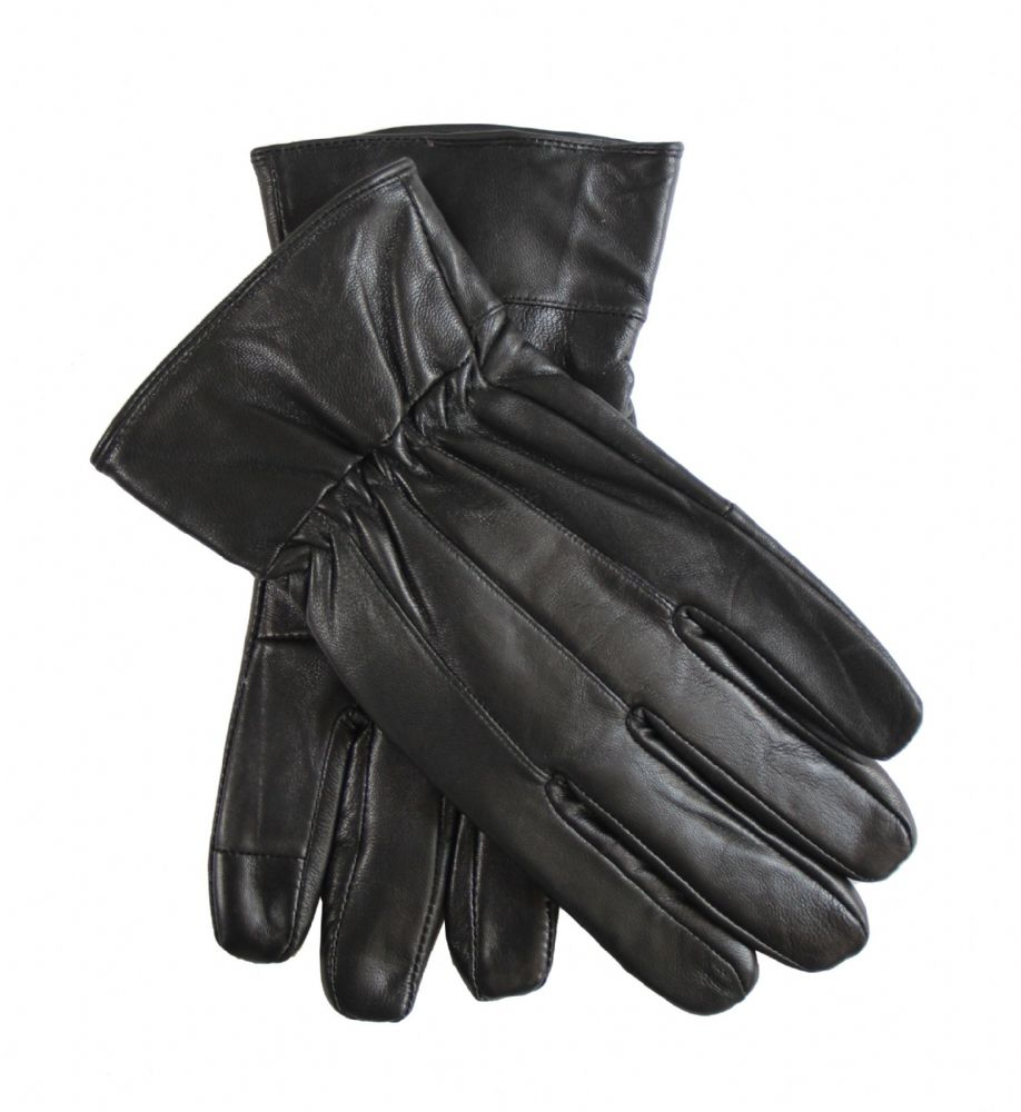 Mens leather genuine winter dress gloves